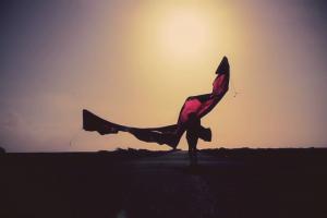 Nicky Rudd kite in Coche2