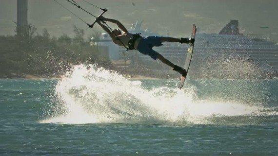 Kiteboarding in Super Slow Motion on the Phantom Miro LC320S maui