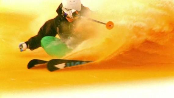 ski on colored snow