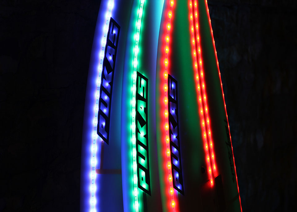 Background LED Surfboards